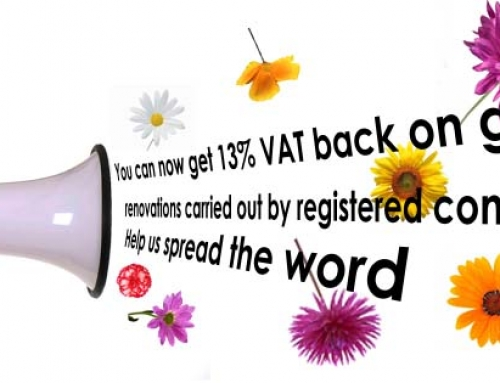 13.5% VAT back on garden renovations….time to get the garden of your dreams